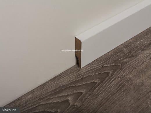 Blokplint 120 x 16 mm, folie wit lengte 250 cm