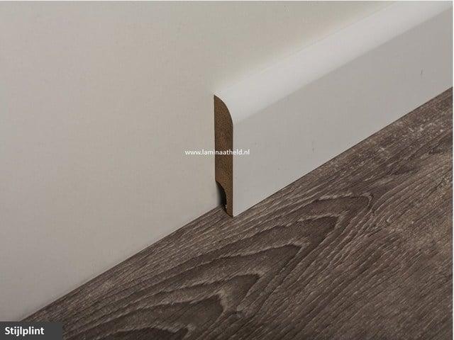 Stijlplint 80 x 18 mm, grondverf wit lengte 244 cm