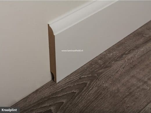 Kraalplint 120 x 18 mm, grondverf wit lengte 244 cm