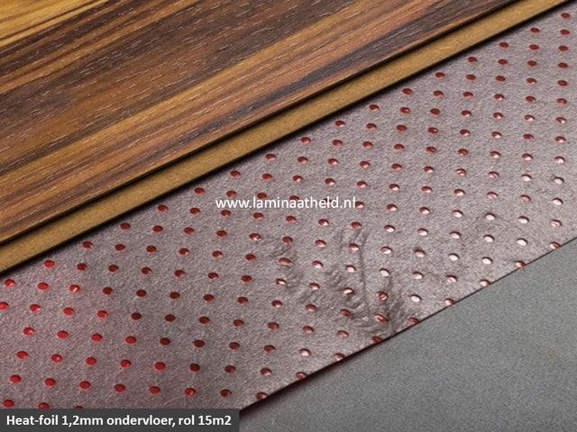 Heatfoil ondervloer 1,2 mm (rol 15m2)