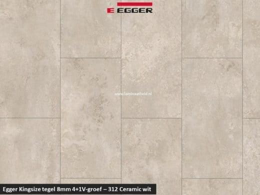 Egger Kinzgsize tegel - 312 Ceramic wit 4+1 V-groef