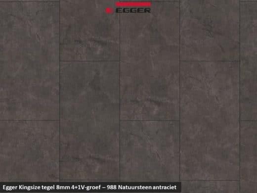 Egger Kinzgsize tegel - 988 Natuursteen antraciet 4+1 V-groef