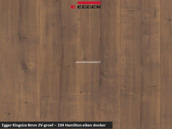 Egger Kingsize 8mm - 104 Hamilton eiken donker V2
