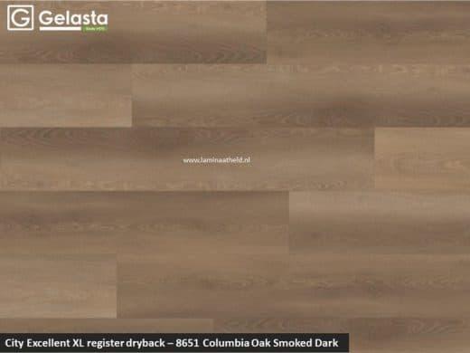 Excellent XL register - 8651 Columbia Oak Smoked dark