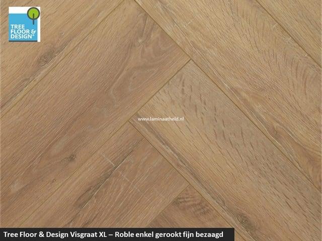 Tree Floor & Design Solid Creativ - ICV456 Roble enkel gerookt fijn bezaagd