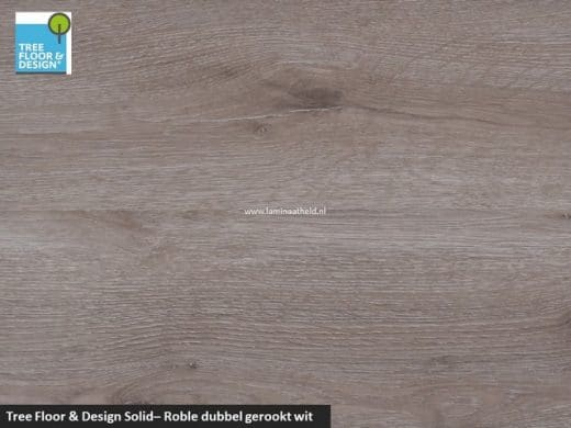 Tree Floor & Design Solid Creativ - ICS456 Roble enkel gerookt fijn bezaagd