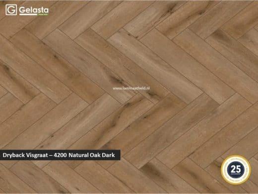 Gelasta Dryback Callisto visgraat - 4200 Natural Oak Dark