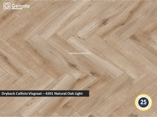 Gelasta Dryback Callisto visgraat - 4201 Natural Oak Light