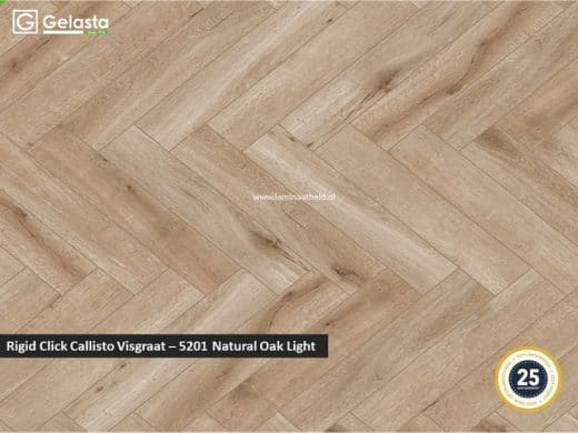 Gelasta Rigid Click Callisto visgraat - 5201 Natural Oak Light