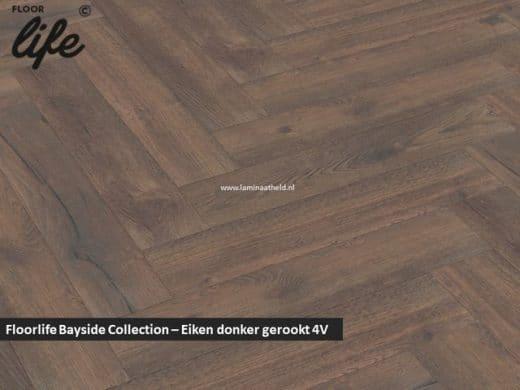 Floorlife Bayside Collection (visgraat) - Eiken donker gerookt V4