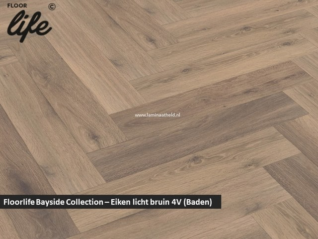 Floorlife Bayside Collection (visgraat) - Eiken licht bruin V4 3766