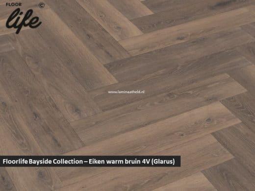 Floorlife Bayside Collection (visgraat) - Eiken warm bruin V4 3860