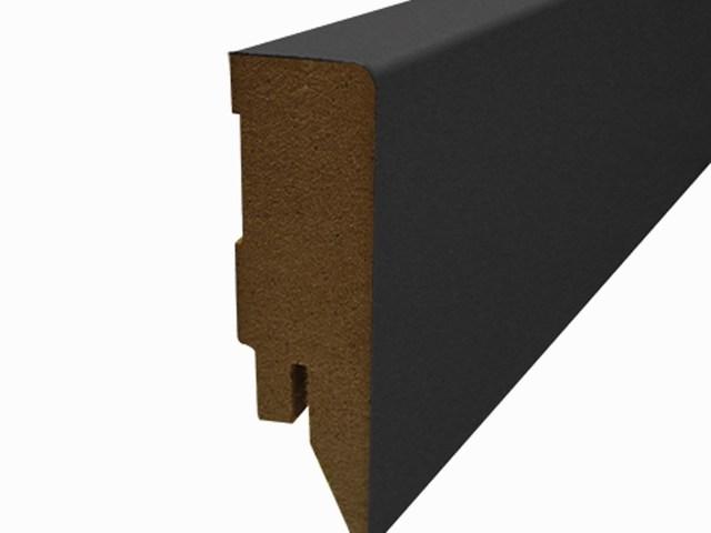 Blokplint 58 x 16 mm, folie zwart lengte 250 cm