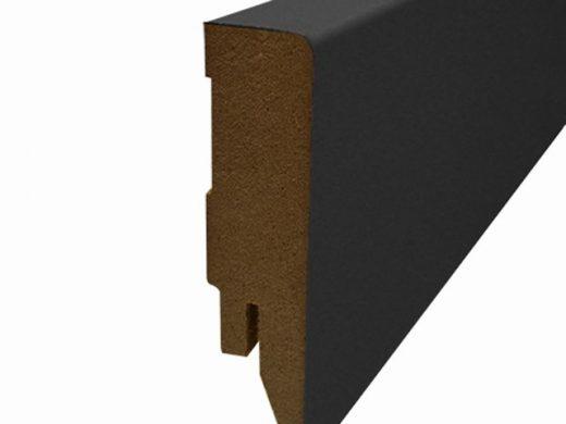 Blokplint 78 x 16 mm, folie zwart lengte 250 cm