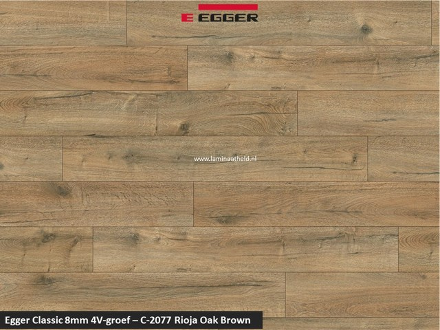 Egger Classic 8mm 4V - Rioja oak brown C-2077