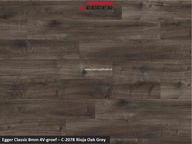 Egger Classic 8mm 4V - Rioja oak grey C-2078