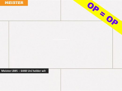 Meister LB85 - 6448 Uni helder wit