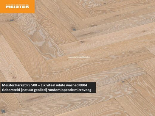 Meister PS 500 - Eik vitaal white washed 8804