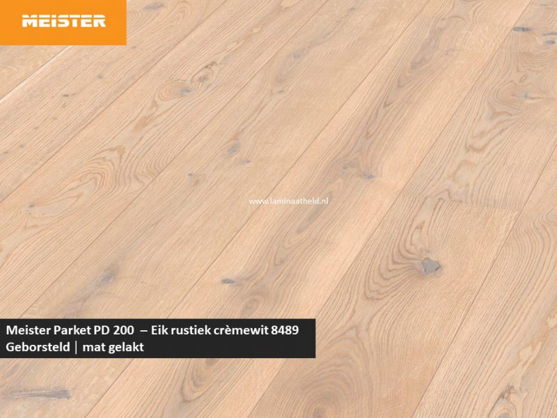 Meister PD 200 - Eik rustiek crèmewit 8489