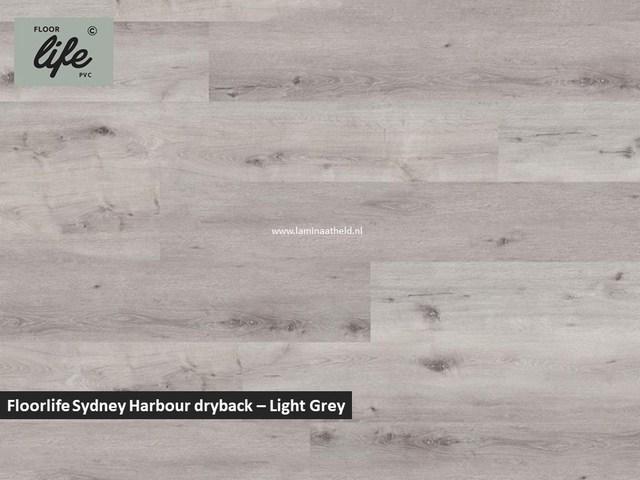 Floorlife Sydney Harbour Collection dryback pvc - Light Grey