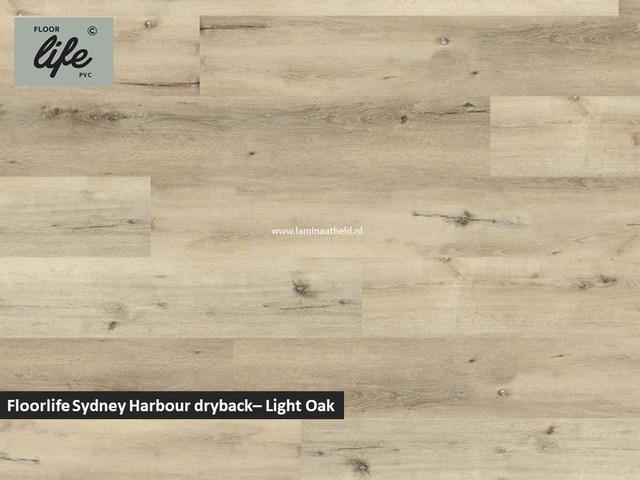 Floorlife Sydney Harbour Collection dryback pvc - Light Oak