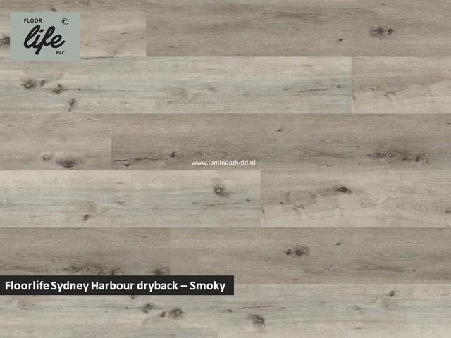 Floorlife Sydney Harbour Collection dryback pvc - Smokey