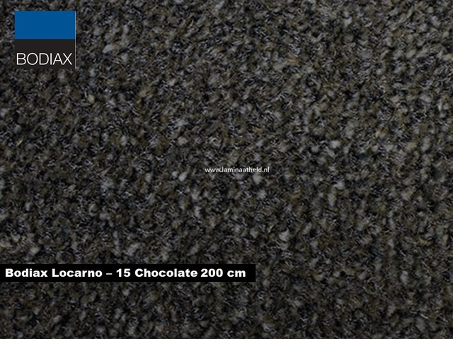 Bodiax Locarno schoonloopmat - 15 Chocolate 200 cm