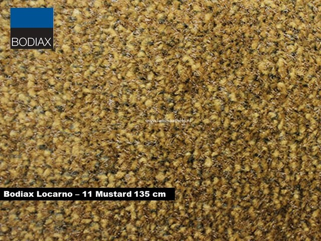 Bodiax Locarno schoonloopmat - 11 Mustard 135 cm