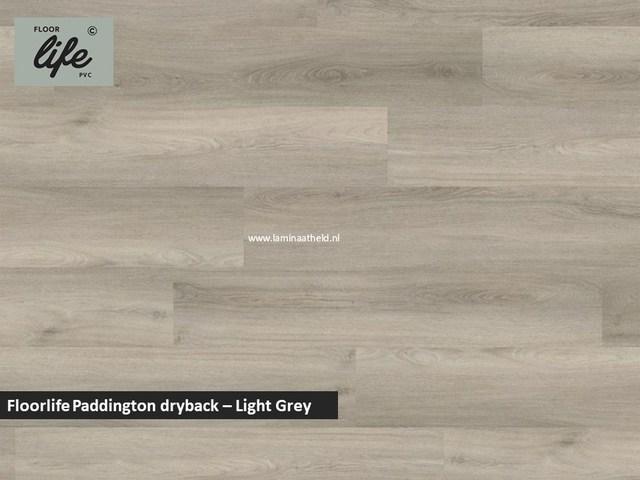 Floorlife Paddington Collection dryback pvc - Light Grey