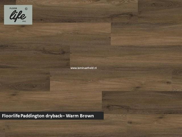 Floorlife Paddington Collection dryback pvc - Warm Brown