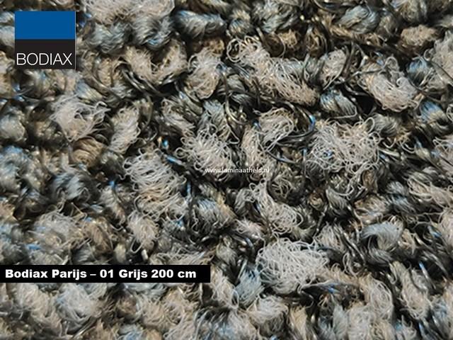 Bodiax Parijs schoonloopmat - 01 Grijs 200 cm