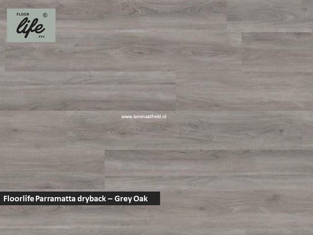 Floorlife Parramatta Collection dryback pvc - Grey Oak