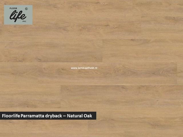 Floorlife Parramatta Collection dryback pvc - Natural Oak