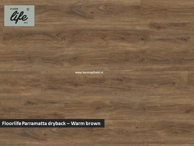 Floorlife Parramatta Collection dryback pvc - Warm Brown