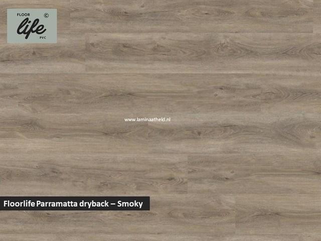 Floorlife Parramatta Collection dryback pvc - Smoky