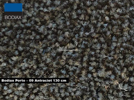 Bodiax Porto schoonloopmat - 09 Antraciet 130 cm