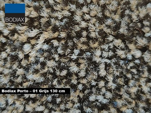 Bodiax Porto schoonloopmat - 01 Grijs 130 cm