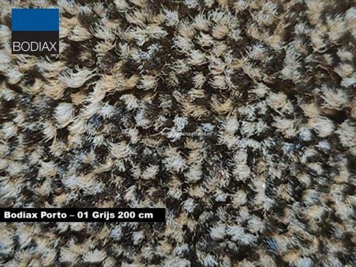 Bodiax Porto schoonloopmat - 01 Grijs 200 cm