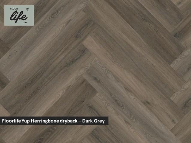 Floorlife Yup dryback pvc - Dark Grey