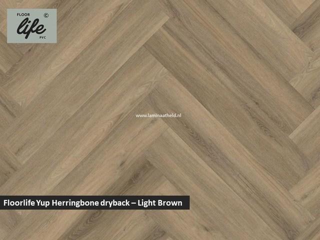 Floorlife Yup dryback pvc - Light Brown