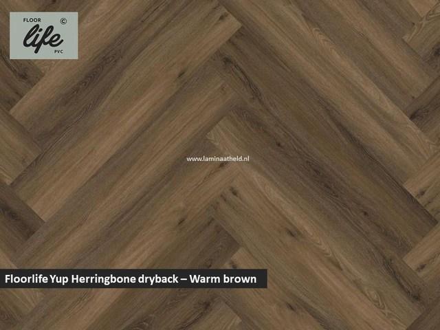 Floorlife Yup dryback pvc - Warm Brown