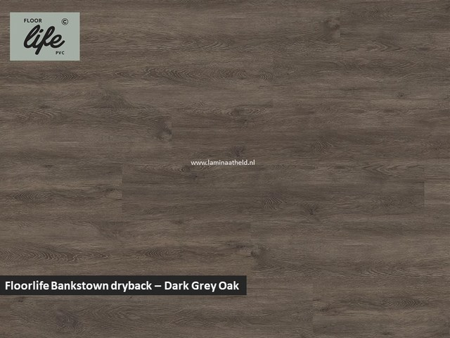Floorlife Bankstown dryback pvc - Dark Grey