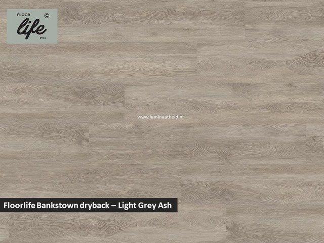 Floorlife Bankstown dryback pvc - Light Grey