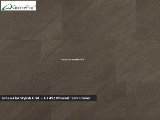Green-Flor Stylish Grid - Mineral Terra Brown GT492