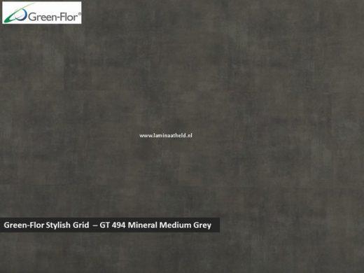 Green-Flor Stylish Grid - Mineral Medium Grey GT494