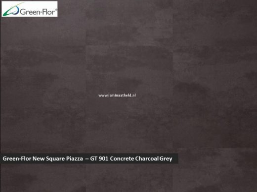 Green-Flor New Square Piazza - Concrete Charcoal Grey GT901