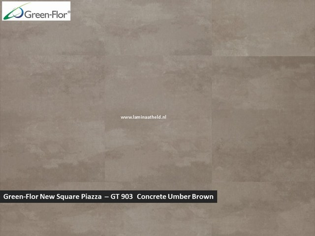 Green-Flor New Square Piazza - Concrete Umber Brown GT903