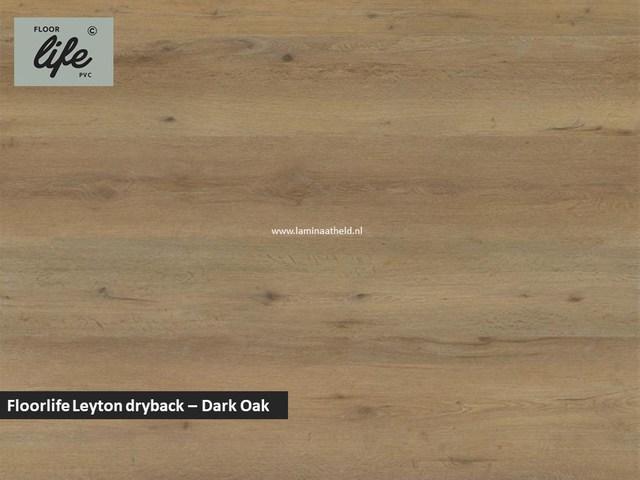 Floorlife Leyton dryback pvc - Dark Oak