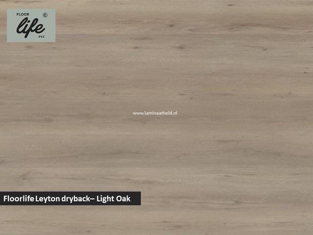 Floorlife Leyton dryback pvc - Light Oak