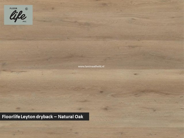 Floorlife Leyton dryback pvc - Natural Oak